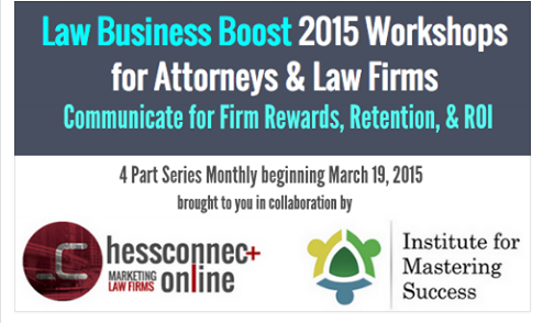 Law Business Boost 2015 Workshops for Attorneys and Law Firms